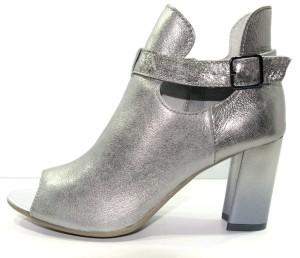 592e4053c925f Obuwie damskie wiosenne letnie skórzane polskie buty Piechur szary 2027