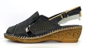 3cf97898b7f86 Obuwie damskie letnie sandały buty modne wygodne skórzane polskie HBH  czarny 40C1406